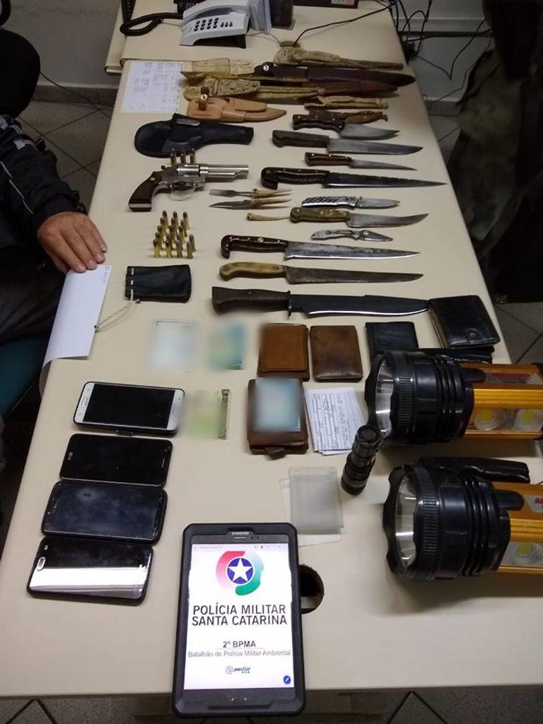 PM Ambiental flagra porte ilegal de arma e munições em Água Doce