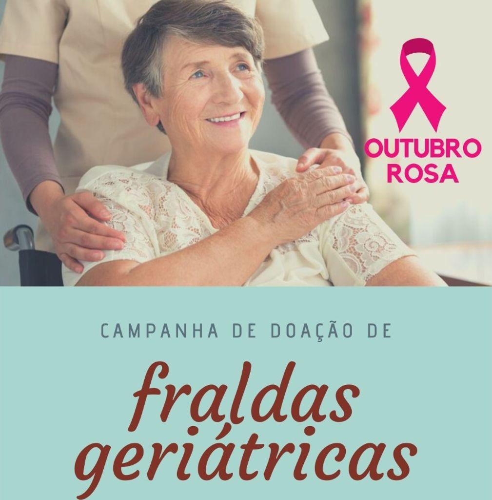 Colabore com a campanha de arrecadação de fraldas geriátricas para a Rede Feminina de Combate ao Câncer