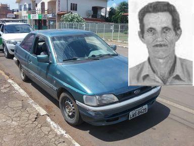 Veículo levado e a vítima do crime