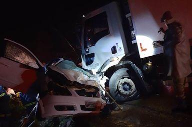 Duas pessoas morrem em acidente em Ponte Serrada