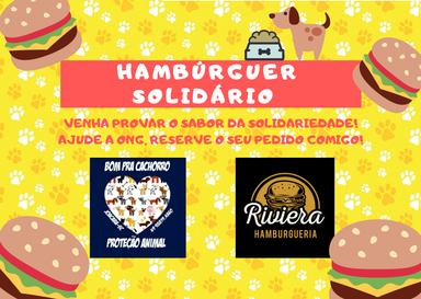 Ong Bom pra Cachorro e Riviera Hamburgueria promovem venda de lanches solidários
