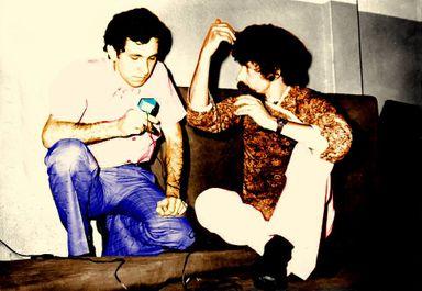 Bolinha entrevistando Raul antes do show memorável