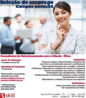 Consultor(a) de Relacionamento Campos Novos