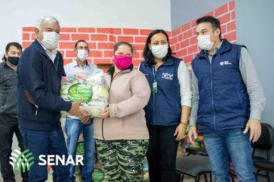 Campos Novos e Monte Carlo entregam cestas básicas do Agro Fraterno