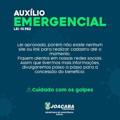 Secretaria de Assistência Social de Joaçaba informa que auxílio emergencial ainda não está disponível