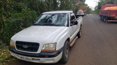 Acidente envolvendo caminhonete e moto é registrado na rodovia do ovo em Herval d' Oeste
