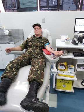 Tiro de Guerra de Joaçaba realiza campanha de doação de sangue
