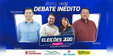 Acompanhe o debate com com os candidatos a prefeito de Campos Novos