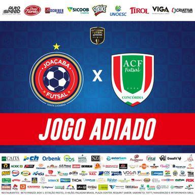Jogo entre Joaçaba x Concórdia que estava marcado para esta quinta-feira, 12, é adiado
