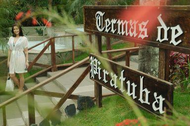 Piratuba tem cerca de 4,2 mil habitantes e recebe muitos turistas que aproveitam as águas termais.