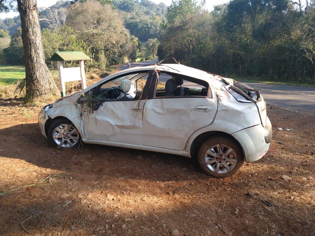 Homem sofre ferimentos graves em acidente registrado em Iomerê