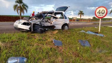 Carro com placas de Joaçaba se envolve em acidente com morte na BR 470