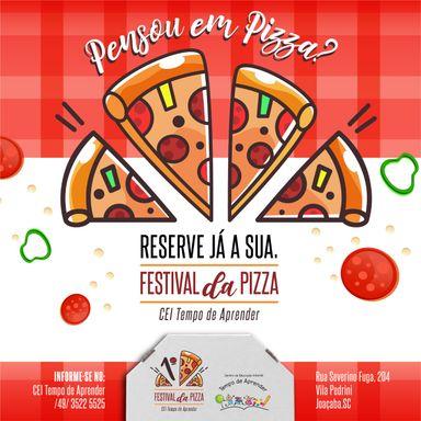 CEI Tempo de Aprender promove Festival da Pizza para angariar recursos