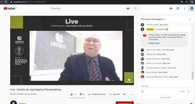 Representantes do setor discutem os cenários para o Agronegócio em live promovida pela Unoesc