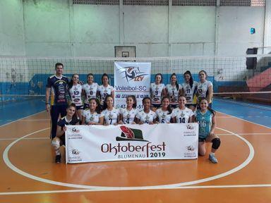 Equipe Infantil da AJOV fica em segundo lugar na 1ª etapa da Liga Catarinense Meio Oeste