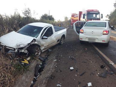 Duas pessoas ficam feridas em acidente na SC 135