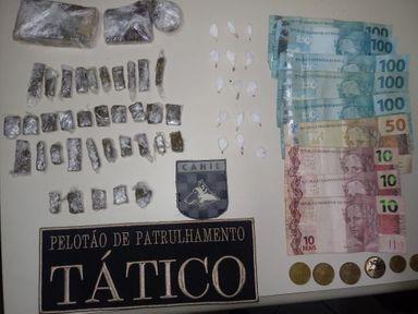 Homem e mulher são presos por tráfico de drogas em Herval