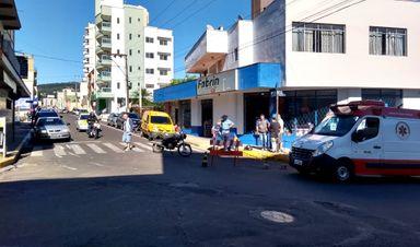 Obra de mudança na Santos Dumont causa acidente em Herval