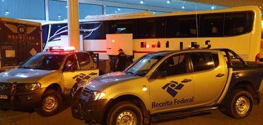 Receita Federal apreende mercadorias na rodoviária de Joaçaba