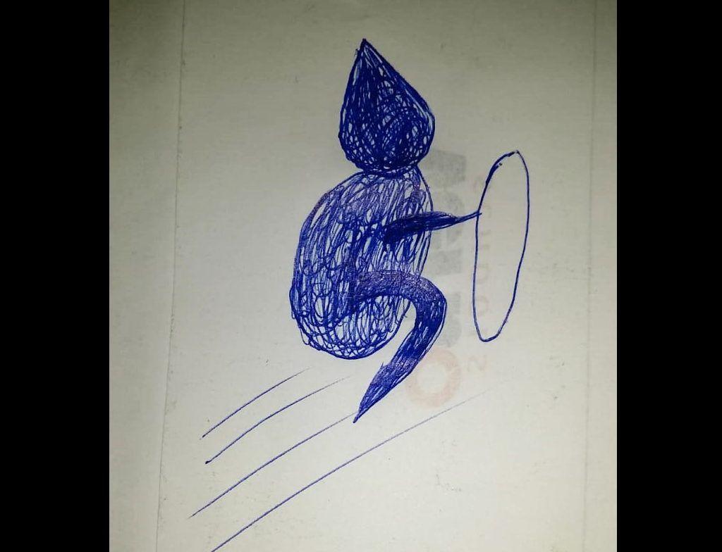 Desenho feito pela Raquel – Foto: Divulgação/Reprodução/ClicRDC