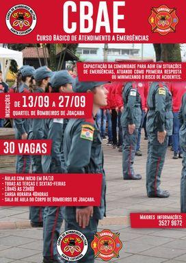 Corpo de Bombeiros de Joaçaba lança curso Básico de Atendimento a Emergências
