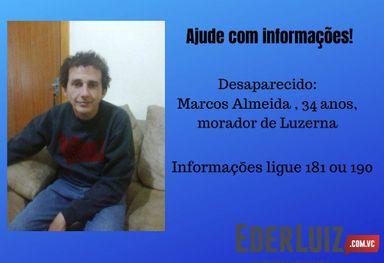 Família procura por morador de Luzerna que está desaparecido