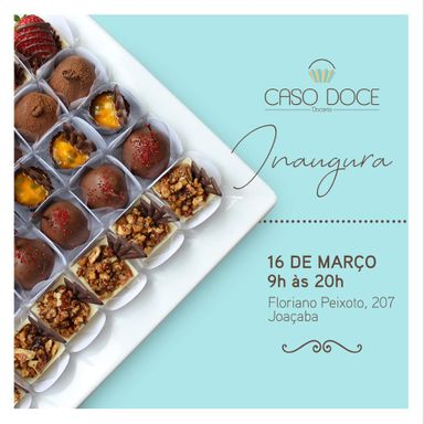 Caso Doce Doceria inaugura neste sábado, 16, em Joaçaba