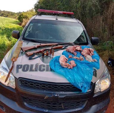 Operação da PM Ambiental apreende caça ilegal e armas