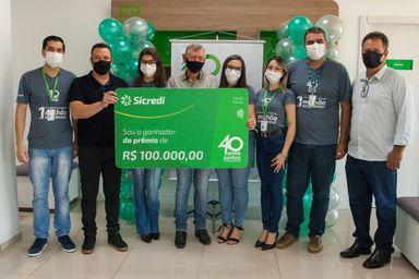 Sicredi UniEstados realiza primeiro sorteio da Campanha 40 anos Juntos