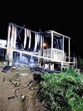 Incêndio em residência é registrado em Curitibanos