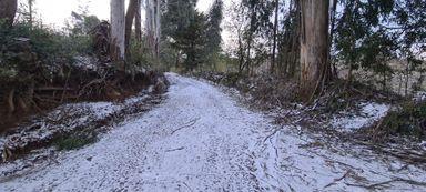 Várias cidades de SC registraram neve