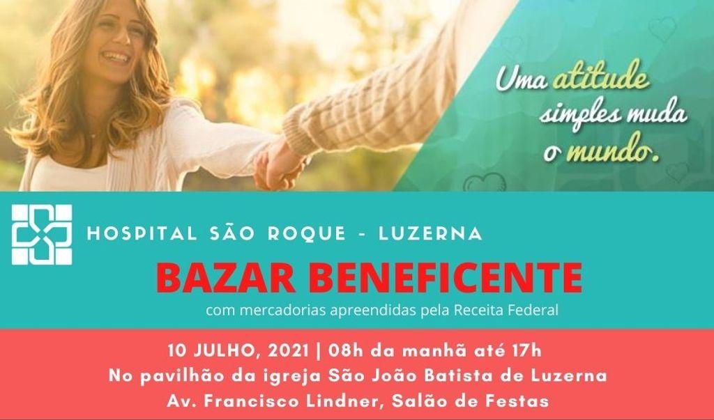 Bazar Beneficente do Hospital São Roque acontece neste sábado,10