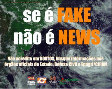 Alerta sobre furacão em Santa Catarina é falso
