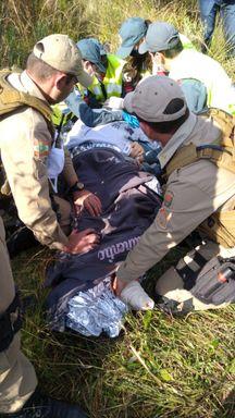 Atendimento ao cabo, que foi encontrado inconsciente.