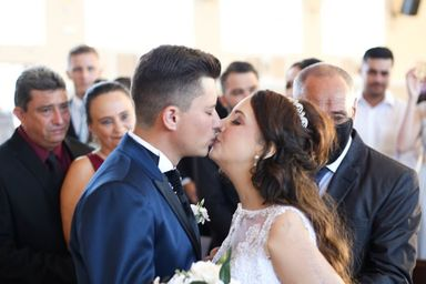 Ruan Pablo de Lara e Adarlele de Lara na cerimônia de casamento — Foto: Arquivo pessoal