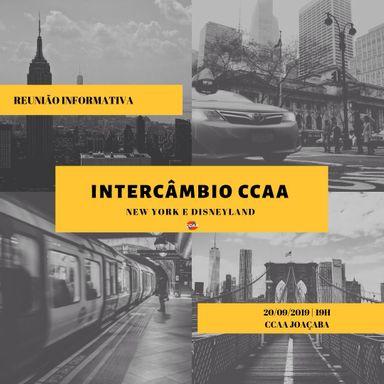 CCAA Joaçaba promoverá reunião com interessados no intercâmbio 2020 em Nova York e Disney