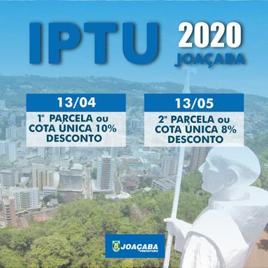 IPTU 2020 já está disponível no site da prefeitura de Joaçaba