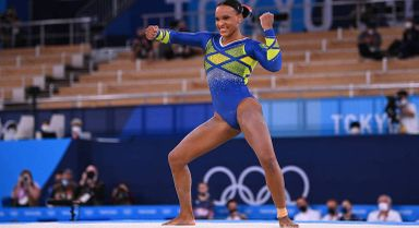 Rebeca Andrade é prata em Tóquio 2020