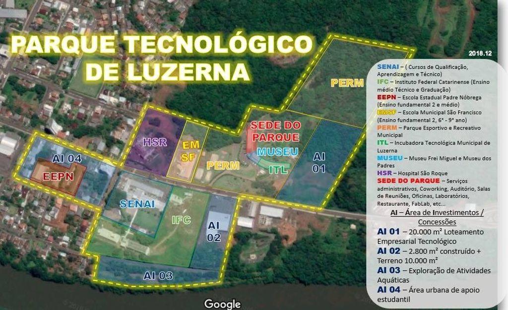 Sancionada lei que autoriza a criação do Parque Tecnológico Municipal em Luzerna