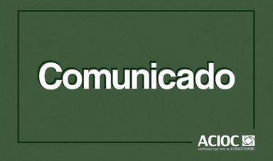 ACIOC suspende atividades administrativas presenciais