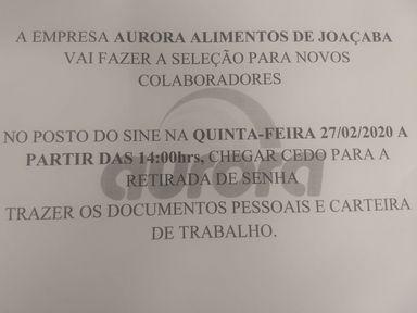 AUXILIAR DE LINHA DE PRODUÇÃO