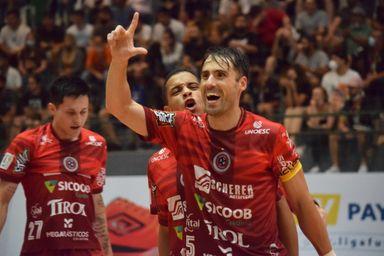 Joaçaba Futsal vence o Blumenau no jogo de ida das oitavas de final da LNF