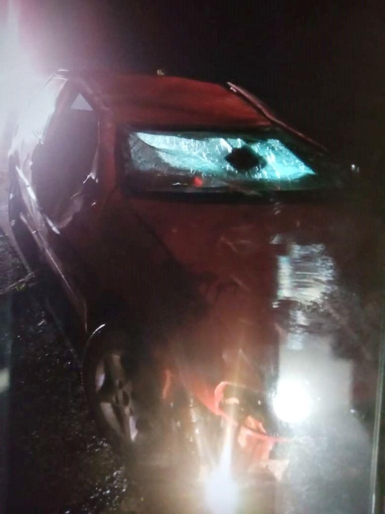 Acidente de trânsito é registrado na SC-150 em Lacerdópolis e o motorista não é encontrado