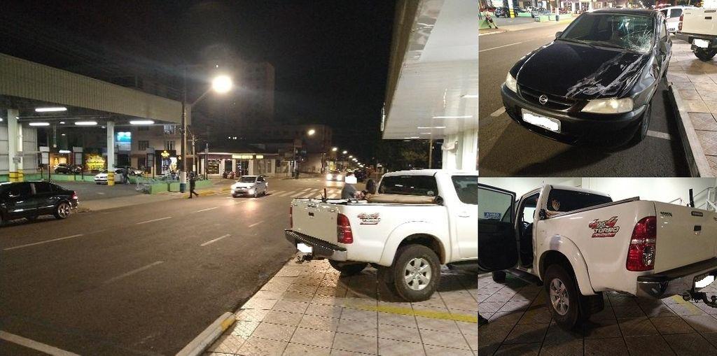Motorista embriagado causa acidente no centro de Campos Novos