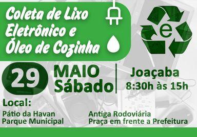 Secretaria de Saúde de Joaçaba promove Coleta de Lixo Eletrônico e Óleo de Cozinha no próximo sábado (29)