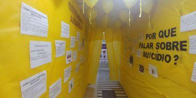 """Ações de conscientização ao """"Setembro Amarelo"""" são realizadas no HUST"""