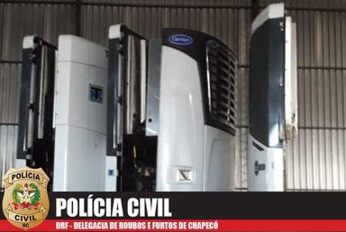 Polícia prende duas pessoas e recupera equipamentos levados em roubo milionário de empresa em Chapecó
