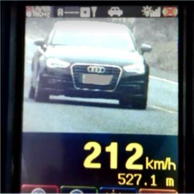 Radar flagra veículo a 212 km/h em avenida de Lages em SC. Foto: Divulgação