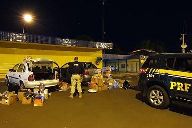 PRF apreende cigarros contrabandeados e mercadorias importadas ilegalmente na BR 282 em Campos Novos e Joaçaba