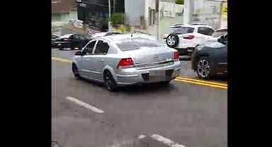 Motorista foge de abordagem da polícia em alta velocidade e acaba detido em Joaçaba